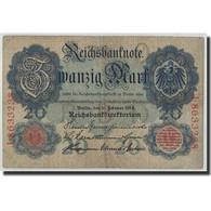 Allemagne, 20 Mark, 1914, KM:46b, 1914-02-19, TB - [ 3] 1918-1933 : République De Weimar