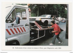 Paris Enlèvement D'une Automobile Aventure Carto Tirage Limité 1989 état Superbe - Transport Urbain En Surface