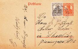EP Michel P 110 + Complément 2 1/2 Pfg Obl HEILIG KREUZ / KREIS / COLMAR / IM ELSASS Du 9.11.18 Adressé à Strasbourg - Alsace-Lorraine