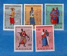 Ref. (Mn.1 ) ANGOLA - * 1957 - , Yvert  390-91-92.93-94. MH. Vedi Descrizione - Angola