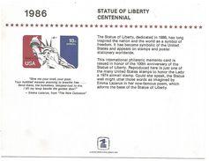 USA ENTIER COMMEMORATIF CENTENAIRE STATUE DE LA LIBERTE - Postal History