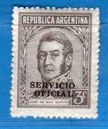 Ref. (Mn.1 ) Argentina - ** 1938 - SERVICE - , Yvert  338.   MNH.    Vedi Descrizione - Servizio