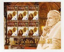 DOMINICA  2561  MINT NEVER HINGED MINI SHEET OF POPE JOHN PAUL II  ; DIANA - Christendom
