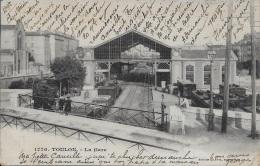 La Gare ** Belle Cpa Animée De 1904 ** Dos Simple  - Ed. Giletta N°1776 - ( Au Verso Timbre Semeuse Rouge De 10cts) - Toulon