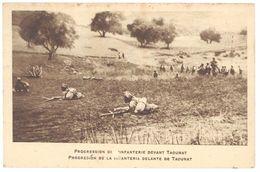 Cpa Maroc, Taounat, Progression De L'Infanterie Devant T. ... ( MI ) - Maroc