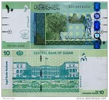 SUDAN       10 Sudanese Pounds       P-73[b]       3.2015       UNC - Sudan