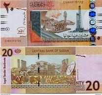 SUDAN       20 Sudanese Pounds      P-74c       3.2015       UNC - Sudan