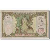 Tahiti, 100 Francs, Undated (1939-65), KM:14d, TB - Papeete (French Polynesia 1914-1985)