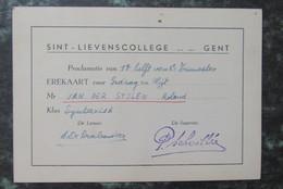 Cp/pk Gent Erekaart Proclamatie Sint Lievenscollege 1947 - Gent