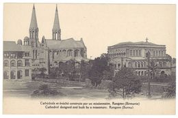 Cpa Cathédrale Et évêché ... Rangoon ( Birmanie ) - Cartes Postales