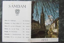 Cp/pk Gent Brugge Oostende Kalender Zak Kalender 1955 SAMDAM - Gent
