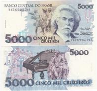 Brazil - 5000 Cruzeiros 1993 Pick 232c UNC Lemberg-Zp - Brasile