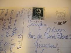 TRIESTE  Carte Postale 1946  Pour  GENEVE  SUISSE - 7. Trieste