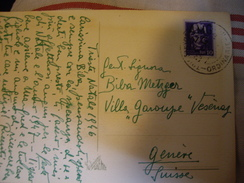 TRIESTE  Carte Postale 1946  Pour  GENEVE  SUISSE  10 Lire - 7. Trieste