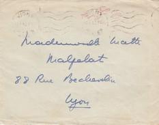 """LETTRE. 16 1 1942. VICHY AVEC GRIFFE ROUGE  """"LE CHEF DE L'ETAT FRANCAIS"""" - Postmark Collection (Covers)"""