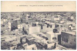 Cpa Maroc, Casablanca - Vue Générale Du Mellah ( Quartier Habité Par Les Israélites ), Judaïca - Casablanca