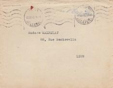 """LETTRE. 12 12 1942. VICHY AVEC GRIFFE BLEUE  """"LE CHEF DE L'ETAT FRANCAIS"""" - Postmark Collection (Covers)"""
