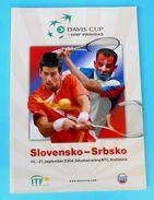 DAVIS CUP 2008. - SLOVAKIA : SERBIA ... Official Tennis Match Programme Tenis Programm Programma Programa NOVAK DJOKOVIC - Boeken