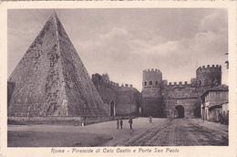 ITALIA - ROMA, PIRAMIDE DI CAIO CESTIO E PORTA SAN PAOLO - Parks & Gardens