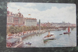 Cp/pk The Thames Embankment London1919 - River Thames