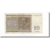 Belgique, 20 Francs, KM:132b, 1956-04-03, B - [ 6] Treasury
