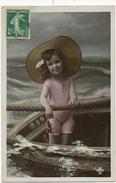 Tres Jolie Petite Fille Baigneuse En Maillot De Bain Envoi à Postes Telegraphes Villemur 31 Depuis Garein  Sabres 40 - Abbildungen