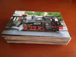 LOT 100 Images 28 COLORED REAL PHOTOS & 72 CARDS TRAINS CHEMIN DE FER RAILWAY RAILROAD GERMANY AUSTRIA RAILROAD - Chemin De Fer