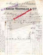 59 - ROUBAIX- FACTURE LUCIEN VIGNOLLE - MANUFACTURE BONNETERIE -1933 - Textile & Vestimentaire
