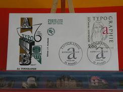 Coté 3 € - Raymond Gid, Typographie De Béquet édt Jean Farcigny - Paris - 1.3.1986 - FDC 1er Jour - FDC