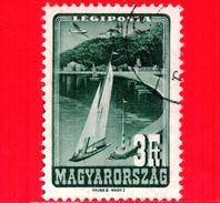 UNGHERIA - MAGYAR - Usato - 1947 - Lago Di Balaton - Vela - 3 P. Aerea - Posta Aerea