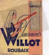 59 - ROUBAIX- BUVARD PANSEMENTS WILLOT - PANSEMENT MEDECINE INFIRMIERE - IMPRIMERIE DU CREPE - Chemist's