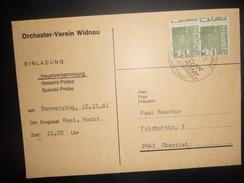 Suisse Timbre De Distributeur , Carte De Widnau 1981 Pour Oberriet - Automatic Stamps