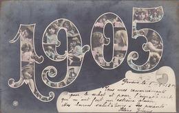 1905 - Kinder In Der Jahreszahl - Int. Fotomontage - Gel.1905        (P-65-40710) - Groupes D'enfants & Familles