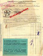 59 - CAMBRAI - FACTURE CASIEZ BOURGEOIS - MANUFACTURE DE RUBANS ET LACETS- 61 RUE DE SOLESMES- 1934 - Textile & Vestimentaire