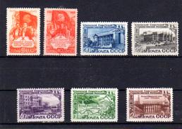 1950   Russie,Ukraine, Ouzbekistan, 1430 / 1431** + 1434 / 1439**, Cote 57 €, - 1923-1991 URSS