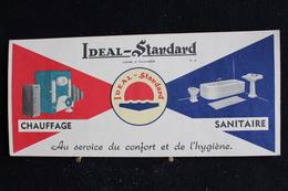 Buvard -  Idéal-standard, Chauffage , Sanitaire - Au Service Du Confort Et De L'hygiène - Buvards, Protège-cahiers Illustrés