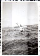 Strand Meer Mit Badender 2 Bei Taning 1935 Echtfoto - Orte
