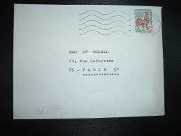 LETTRE TP COQ DE DECARIS 0,30 OBL.MEC.2-6-1967 BISCARROSSE (40 LANDES) - Poststempel (Briefe)