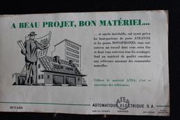 Buvard -  Automatque Atea Electrique  S.a Rue Du Verger Anvers - Buvards, Protège-cahiers Illustrés