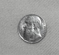 Münze/Coin Silber/Ag 835 Belgien/Belgium Leopold II, 1901, 50 Centimes Vz-st/xf-BU - 1865-1909: Leopold II