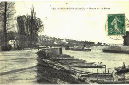 CPA N°1855 - LOT DE 2 CARTES D' ATHIS MONS - BORDS DE LA SEINE + LE MOULIN - Athis Mons