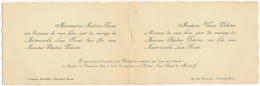 FAIRE-PART MARIAGE à MALAKOFF (Décembre 1931), Eglise Notre-Dame, Bouté-Delaitre - Boda