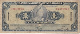 BILLETE DE NICARAGUA DE 1 CORDOBA DEL AÑO 1960 (BANK NOTE) - Nicaragua