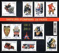 France. Bloc Sapeurs Pompiers De Paris No F4582 N** - Blocs & Feuillets