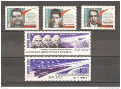 Russia/USSR 1964,3-Men Space Flight ,Komorov,Yegorov,Feoktistov,Sc 2952-56,VF MNH** - Russia & USSR