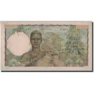 French West Africa, 1000 Francs, 1954, 1954-10-28, KM:42, TTB+ - Billets