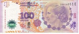 BILLETE DE ARGENTINA DE 100 PESOS DEL AÑO 2012 (BANKNOTE) - Argentinië