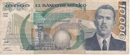 BILLETE DE MEXICO DE 10000 PESOS AÑO 1989 DE CARDENAS   (BANKNOTE) - Mexico