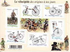 France. Bloc Le Vélocipède No F4555 N** - Sheetlets