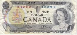 BILLETE DE CANADA DE 1 DOLLAR DEL AÑO 1973  (BANKNOTE) - Canada